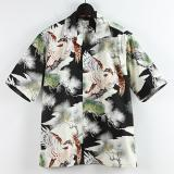 "[GOLD]COTTON HAWAIIAN OPEN SHIRT ""KING OF THE SKY"""