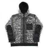 [GOLD] LEOPARD BOA FLEECE ZIP PARKA