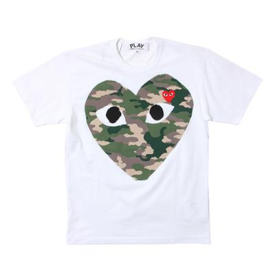 [PLAY COMME des GARCONS] カモハートT/S WHITE