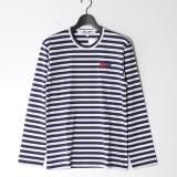 [PLAY COMME des GARCONS] AZ-T228-051 新型L/SボーダーTEE