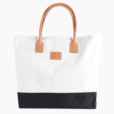 [HERITAGE LEATHER CO.] CANVAS TOTE BAG