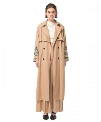 [CLANE] EMBROIDERY TRENCH COAT