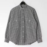 [Porter Classic] ROLL UP GINGHAM CHECK SHIRT BLACK