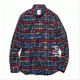 [uniform experiment] FLANNEL CHECK DRIPPING B.D SH