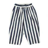 [GOLD] BLEED STRIPES COTTON WEATHER BALLOON PANTS