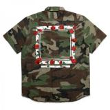 [ELVIRA] ROSE FRAME ARMY SS SHIRT -CAMO-