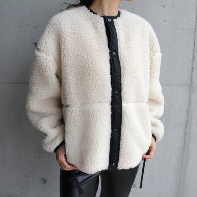 [HYKE] FAUX SHEARLING JACKET 17176