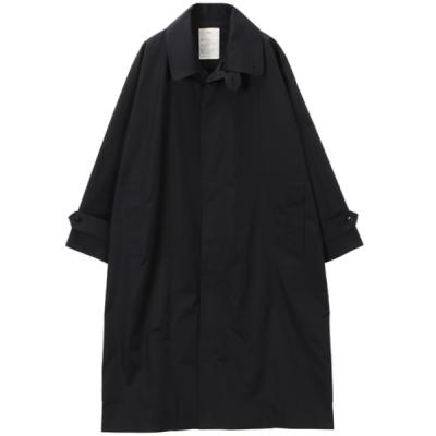 [Text] Double Collar Trench Coat BLACK