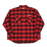 [doublet] CHAOS EMBROIDERY CHECK SHIRT