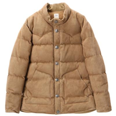 [Ron Herman] SUEDE CONCHO DOWN JACKET BEIGE
