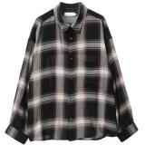 [Graphpaper]Check Regular Collar Big Sleeve Shirts