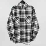 [GOLD] COTTON FLANNEL CHECK PRINT BIG WORK SHIRT