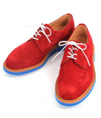"MARK MCNAIRY ""別注Plain Derby Shoe(Suede Red)"""