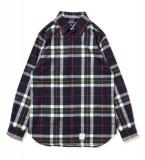 [APPLEBUM] Big Check Nel Fly Front Shirt