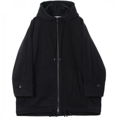 [marka] HOODED COAT BLACK