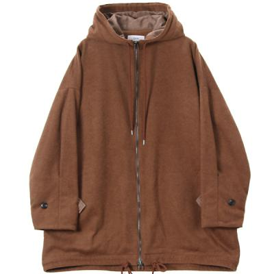 [marka] HOODED COAT BROWN
