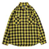 [APPLEBUM] Yellow/Navy Check Nel Shirt