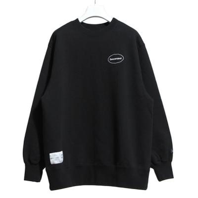 [DESCENDANT] OVAL CREW NECK SWEATSHIRT BLACK