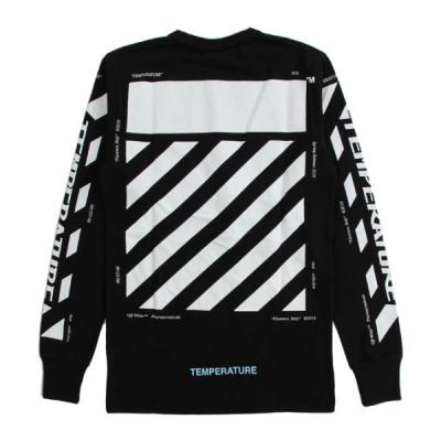 [OFF-WHITE] DIAG TEMPERATURE L/S TEE
