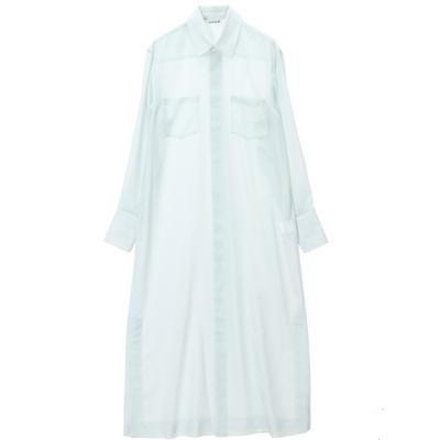 [AURALEE] WOOL POLYESTER SHEER CLOTH SHIRTS ONE-PI